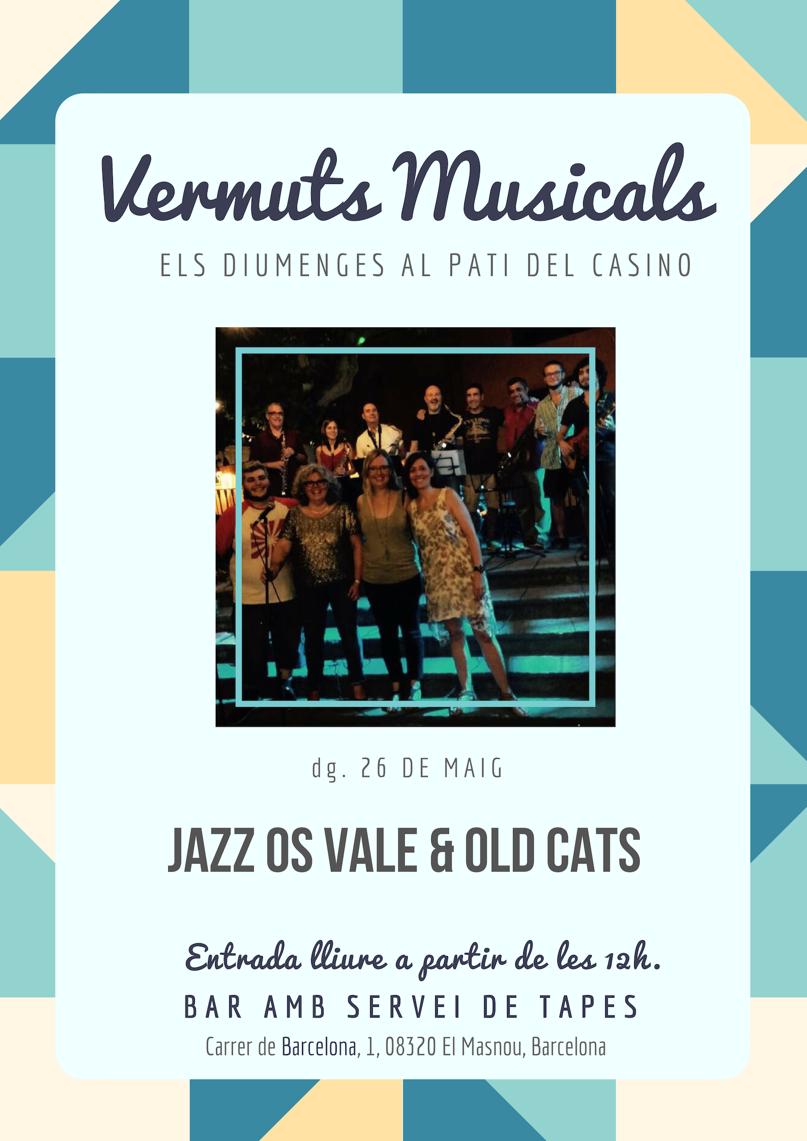 Vermuts musicals amb Jazz Os Vale & Old Cats