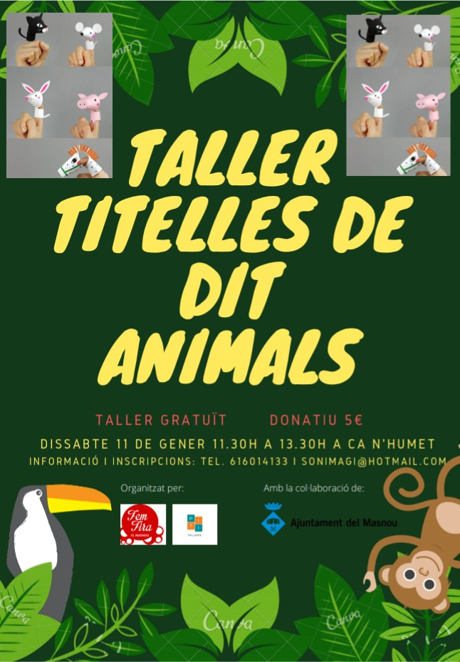 Taller de titelles de dit d'animals